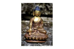 Handbemalte Buddah Figur